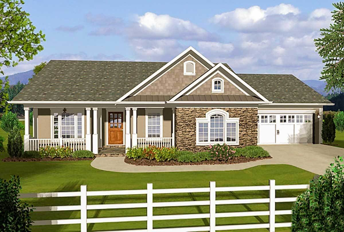 Best 3 Bedroom Ranch With Covered Porches 20108Ga With Pictures