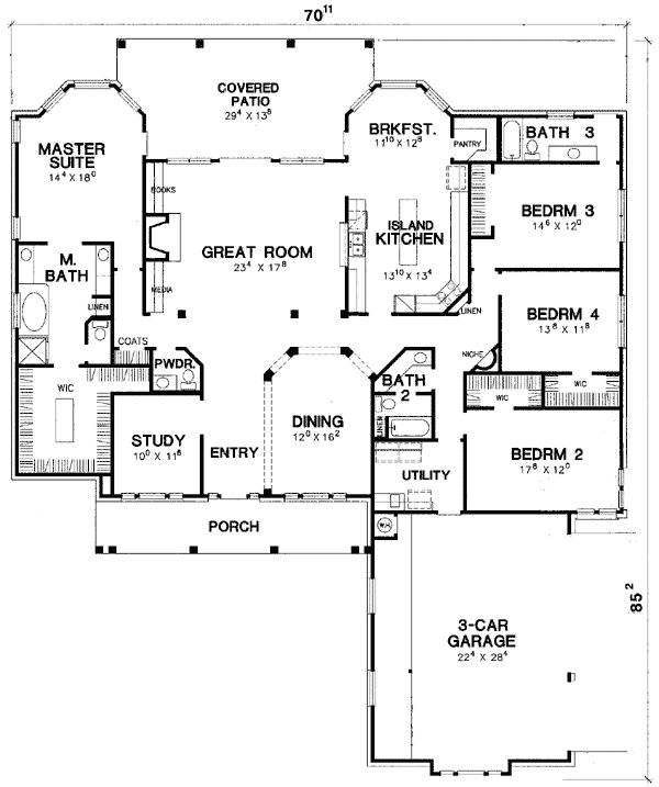 Best Split Bedroom Hill Country 31077D 1St Floor Master With Pictures