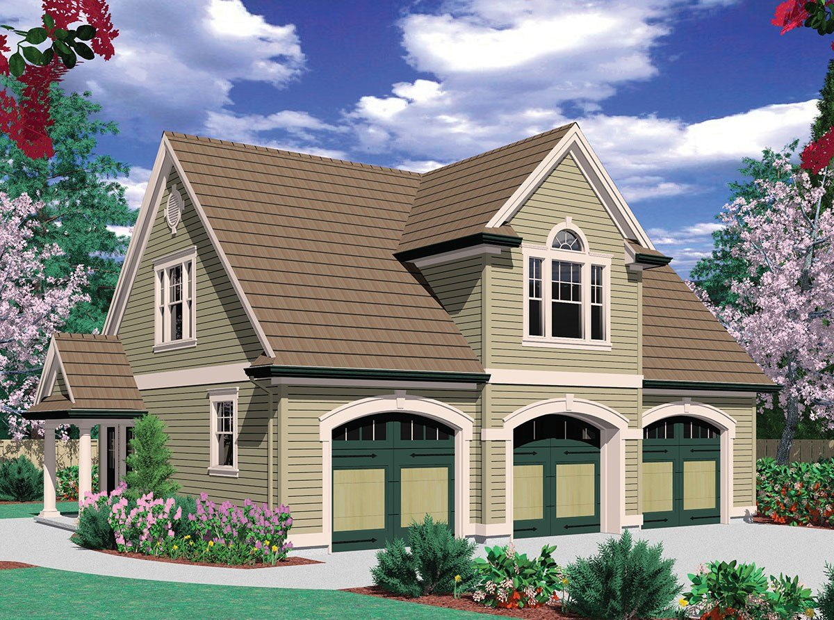 Best Two Bedroom Guest Suite Over 3 Car Plan 69395Am With Pictures