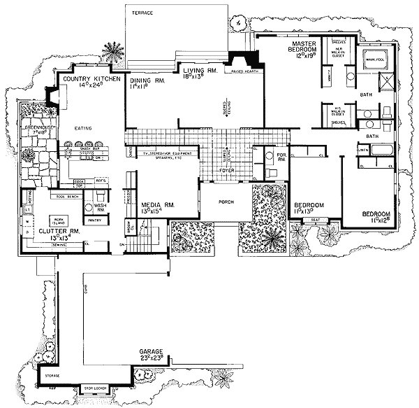Best L Shaped Ranch House Plan 81100W 1St Floor Master With Pictures