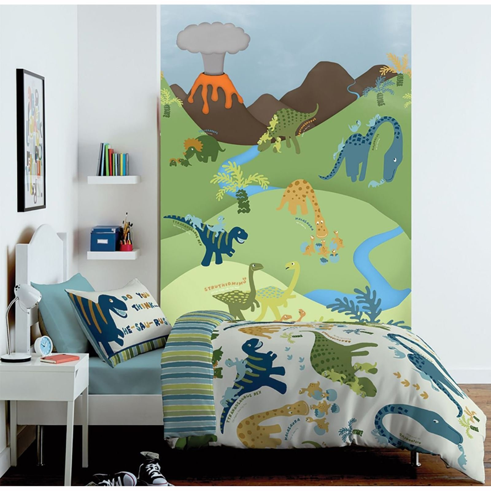 Best Catherine Lansfield Bedroom Range Dinosaur Bedding Wall With Pictures