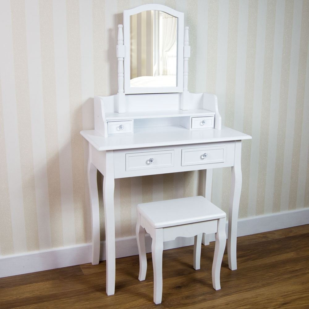 Best Nishano Dressing Table Drawer Stool Adjustable Mirror Bedroom Makeup Desk White Ebay With Pictures