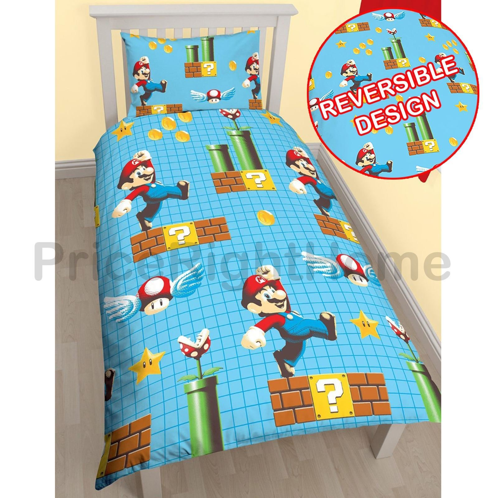 Best Official Nintendo Super Mario Brothers Bedding Duvet Cover With Pictures