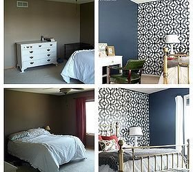 Best Navy Gold Coral Master Bedroom Hometalk With Pictures
