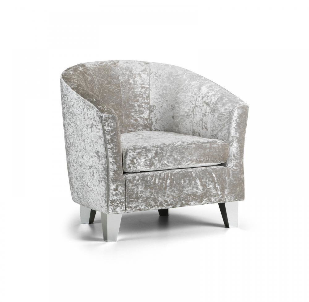 Best Modern Crushed Velvet Tub Chair Armchair Bedroom Living Room Office Reception Ebay With Pictures
