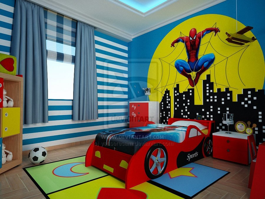 Best Spiderman Wallpaper For Kids Room Wallpapersafari With Pictures