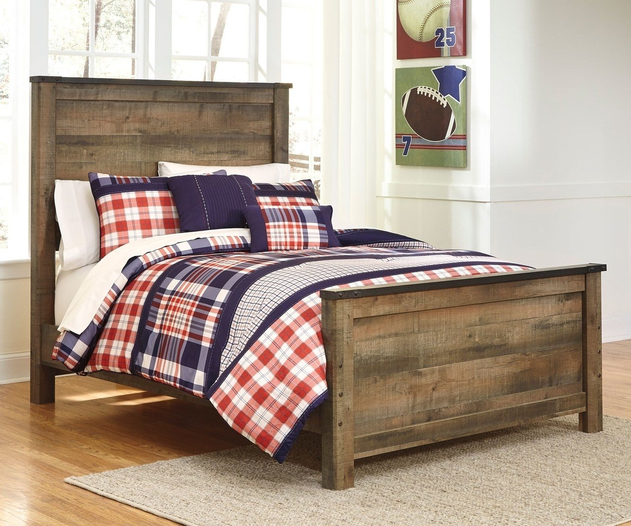 Best Trinell B446 Full Size Panel Bed Ashley Kids Furniture Boys And Girls Bedroom Furniture With Pictures