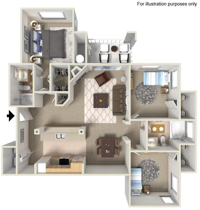 Best 1 2 3 Bedroom Apartments For Rent In San Diego Casoleil With Pictures
