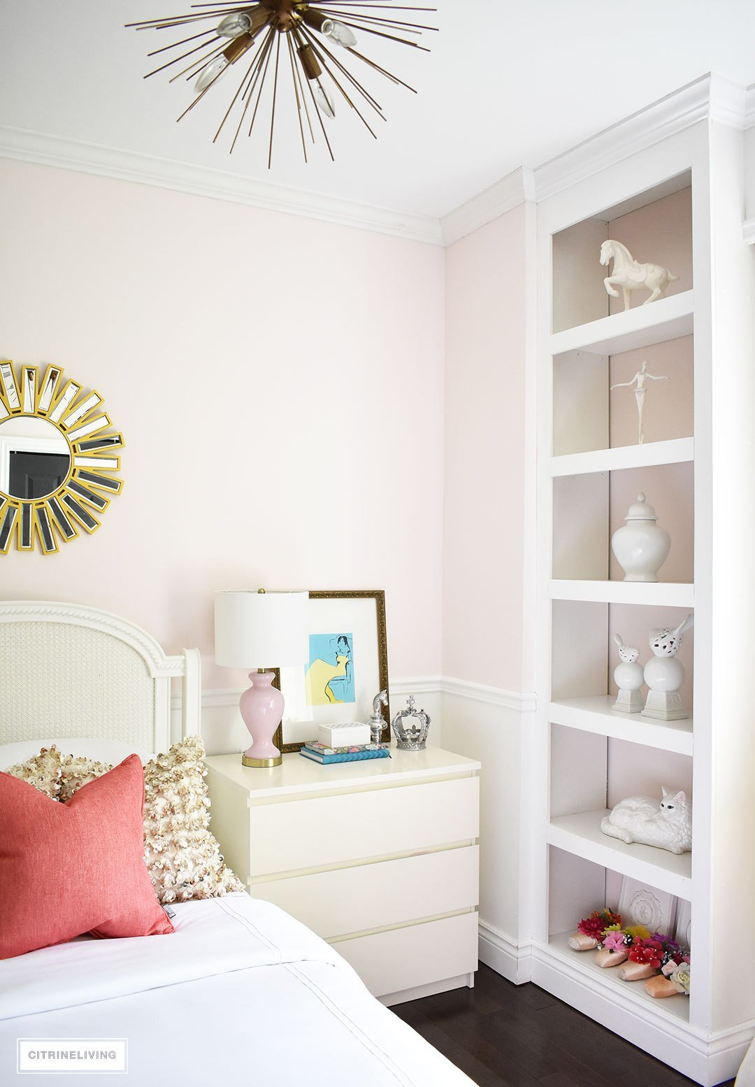 Best Blush Pink And Coral Bedroom With Brass Accents With Pictures