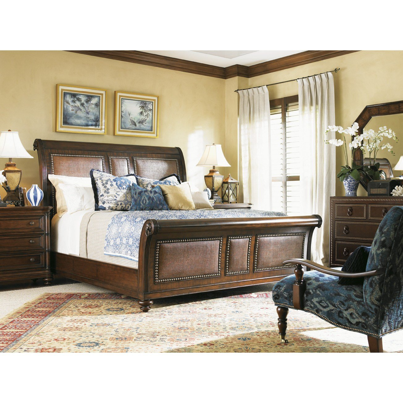 Best Tommy Bahama Home Landara Sleigh Customizable Bedroom Set Reviews Wayfair With Pictures