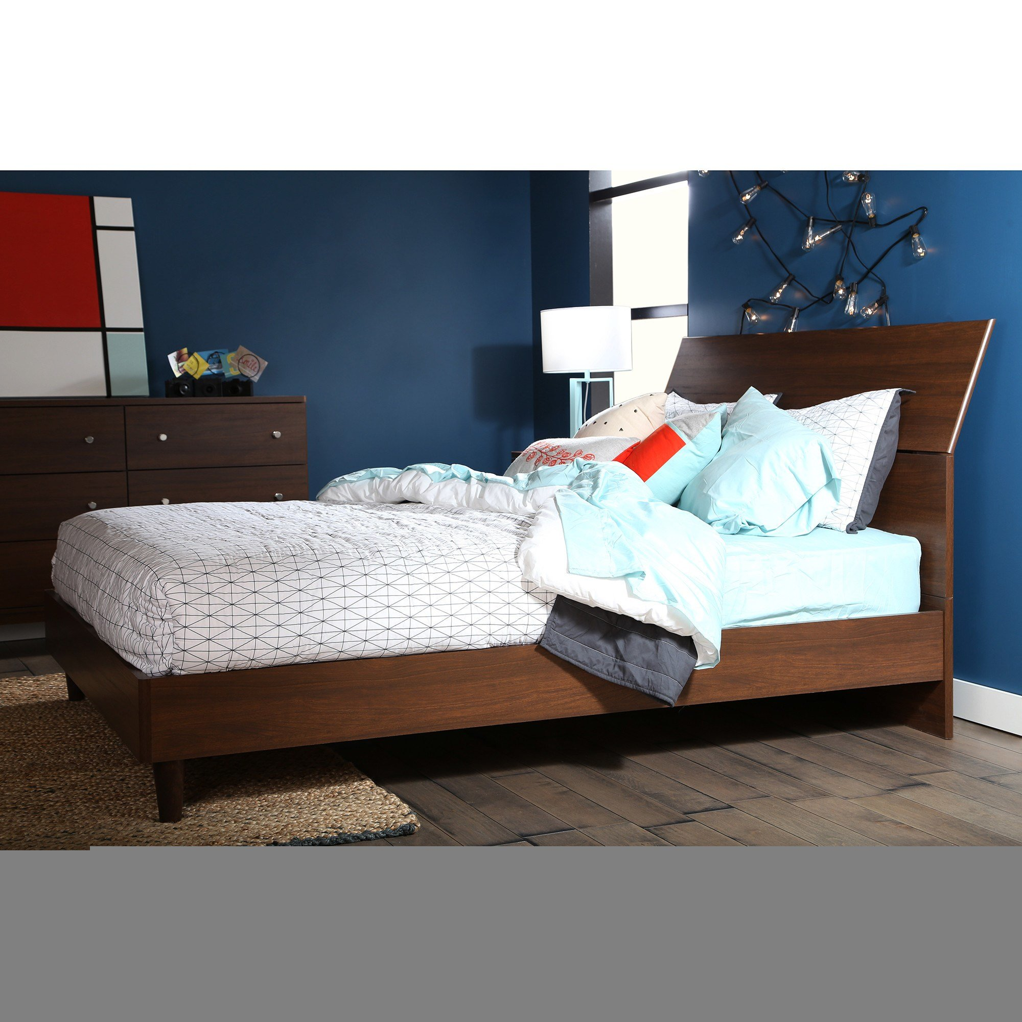 Best South Shore Olly Queen Platform Customizable Bedroom Set With Pictures