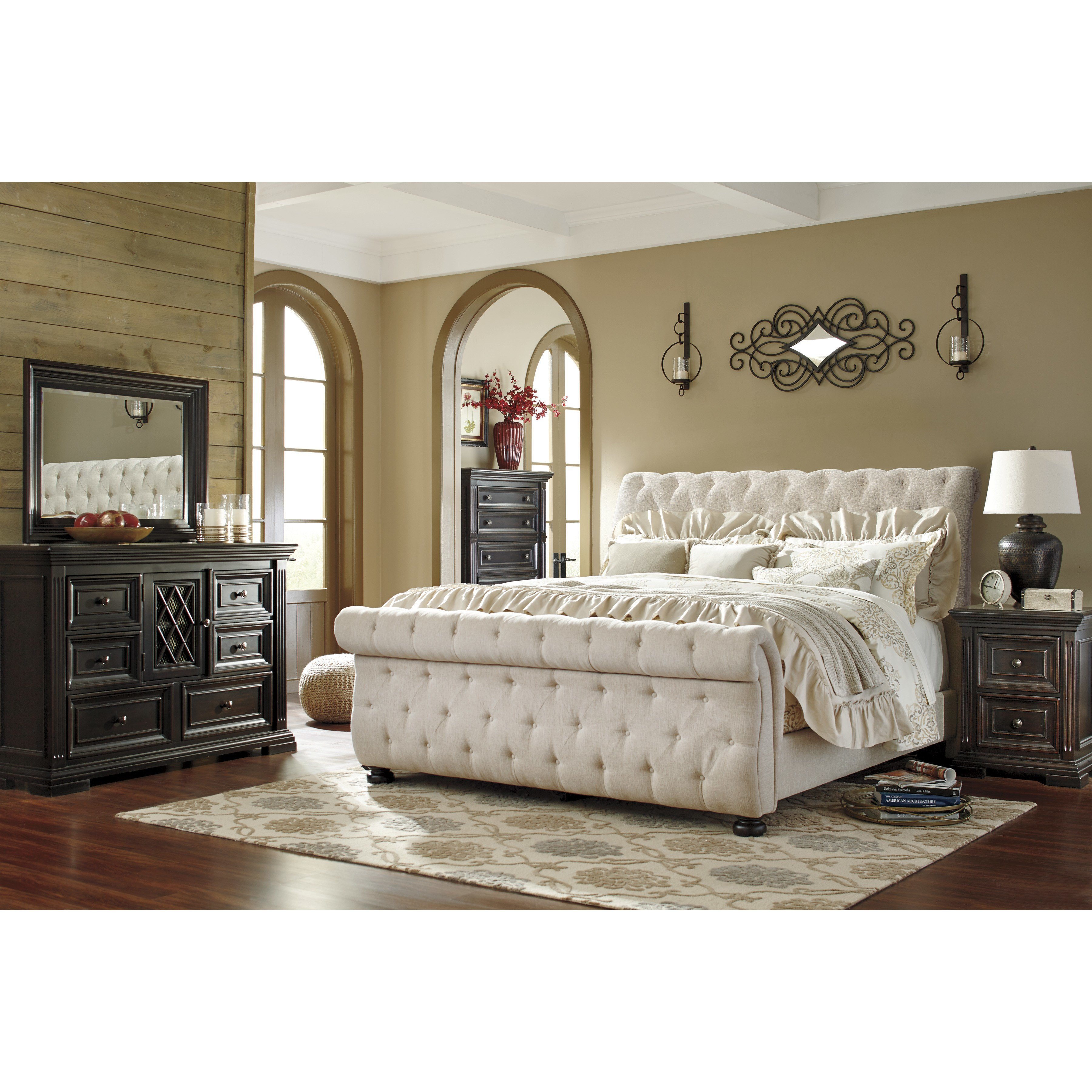 Best Darby Home Co Althea Upholstered Sleigh Customizable Bedroom Set Wayfair With Pictures