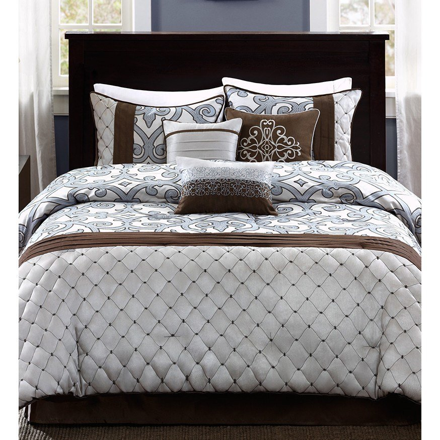 Best Madison Park Crosby 7 Piece Comforter Set Reviews Wayfair With Pictures