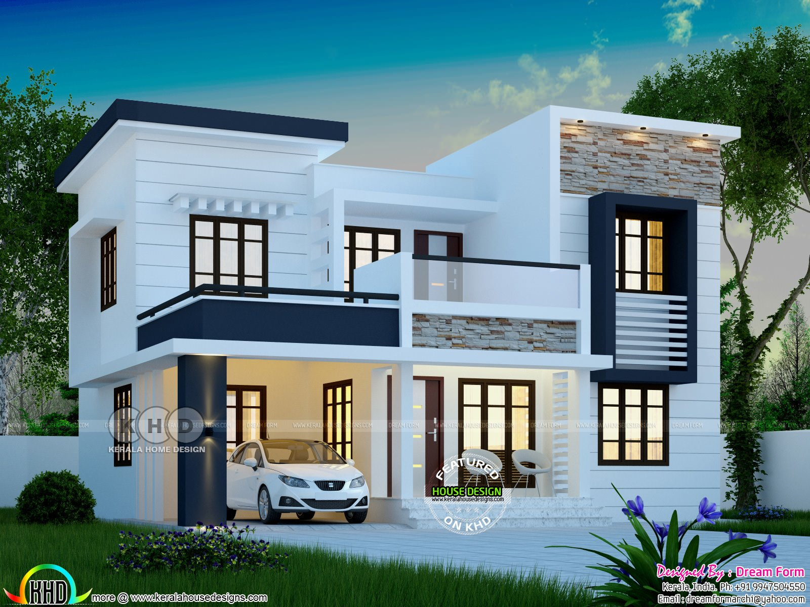 Best 1748 Square Feet Modern 4 Bedroom House Plan Kerala Home Design Bloglovin' With Pictures
