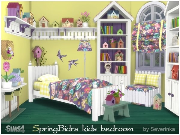 Best My Sims 4 Blog Spring Birds Kid S Bedroom Set By Severinka With Pictures