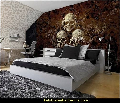 Best Decorating Theme Bedrooms Maries Manor Skull Decor Skull Bedding Skull Pattern Bedding With Pictures