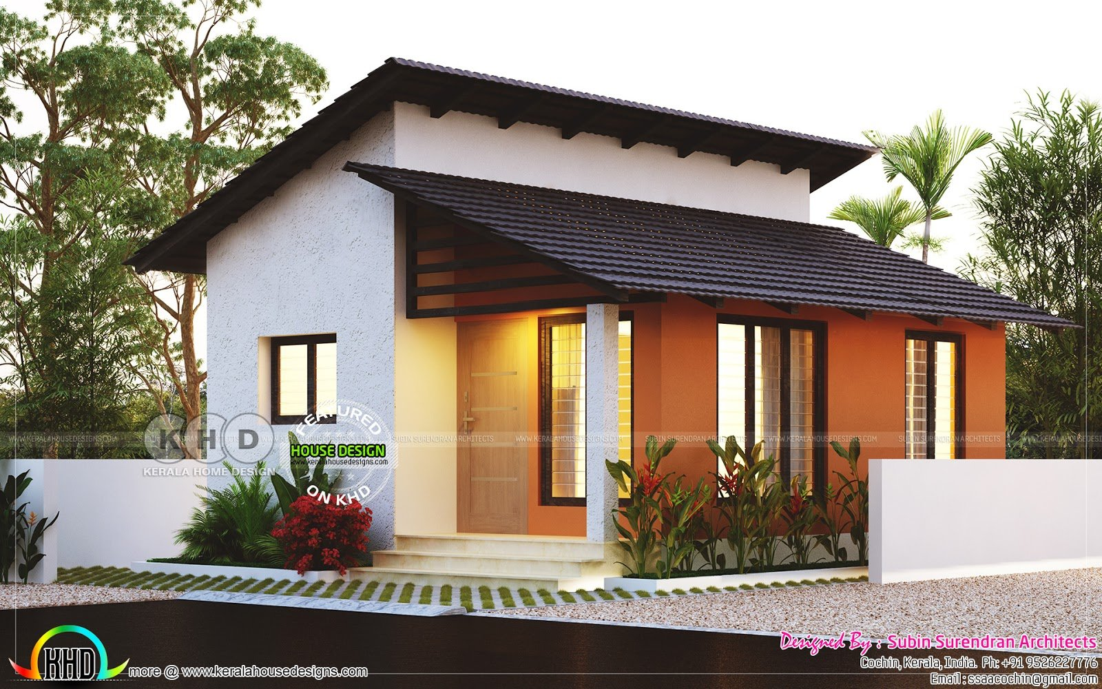 Best Small Low Cost 2 Bedroom Home Plan Kerala Home Design With Pictures