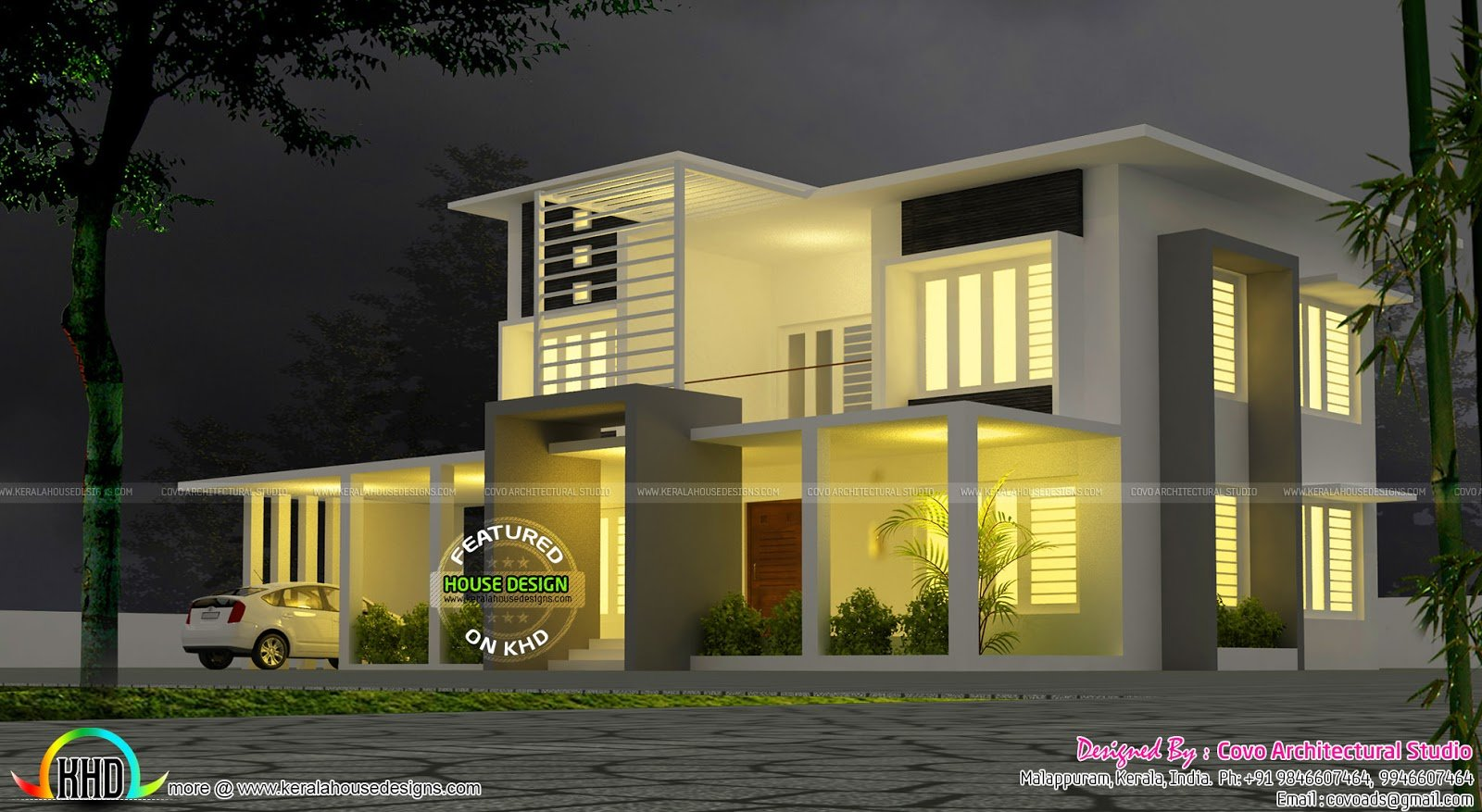 Best 5 Bedroom Modern Contemporary Villa Kerala Home Design With Pictures
