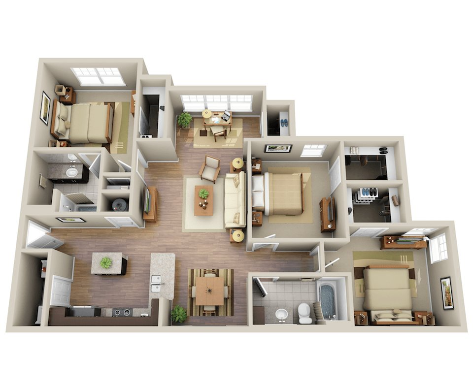 Best Three Bedroom Apartment Homes The Summit At Nashville With Pictures