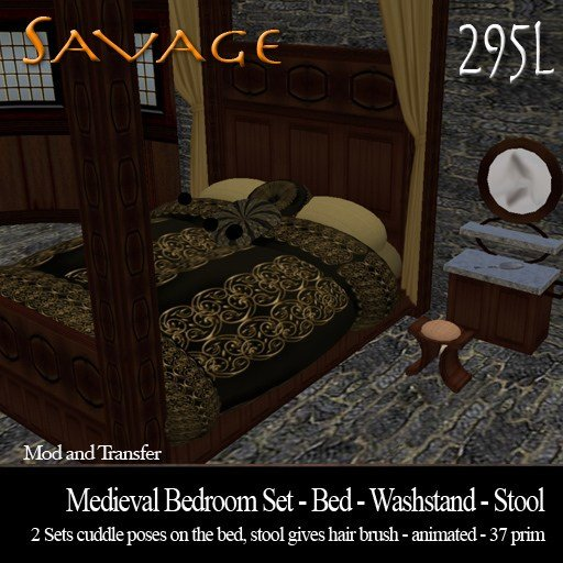 Best Second Life Marketplace Medieval Bedroom Set With Pictures