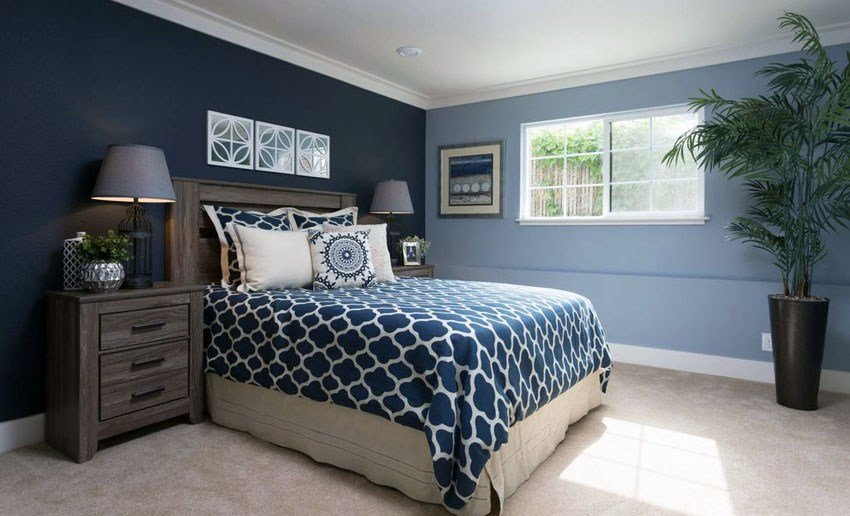 Best 29 Beautiful Blue And White Bedroom Ideas Pictures With Pictures