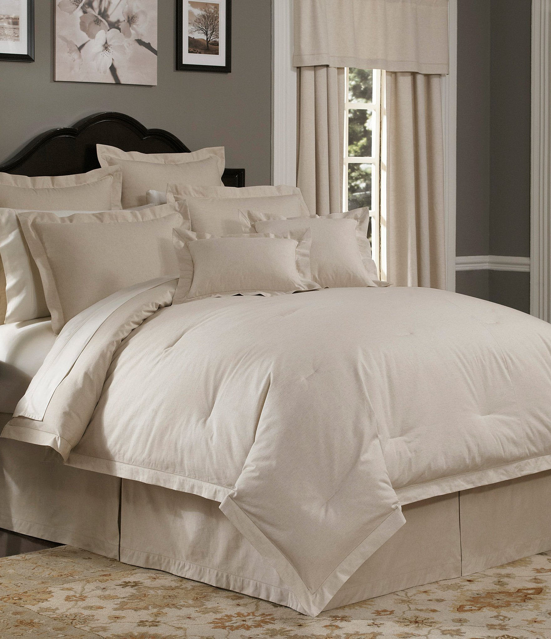 Best Noble Excellence Villa Naturals Linen Textured Comforter With Pictures
