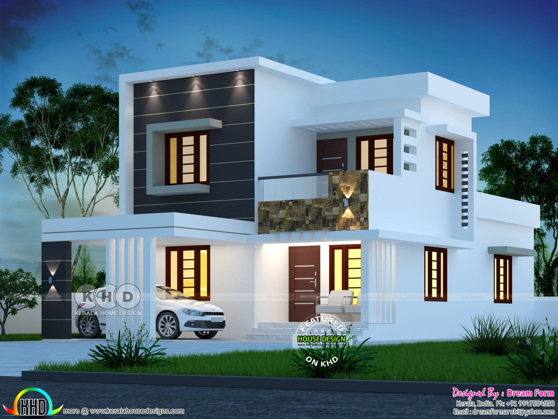 Best 1800 Sq Ft 4 Bedroom Modern House Plan Kerala Home With Pictures