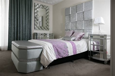 Best Buy Online Feature Square Paneled Bed Head Silver And With Pictures