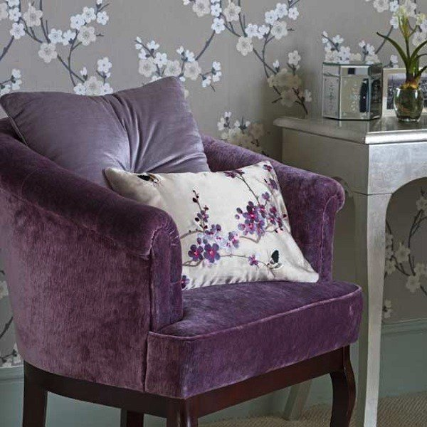 Best Bedroom Chair Purple Lavender Silver Leaf Table Eclectic With Pictures