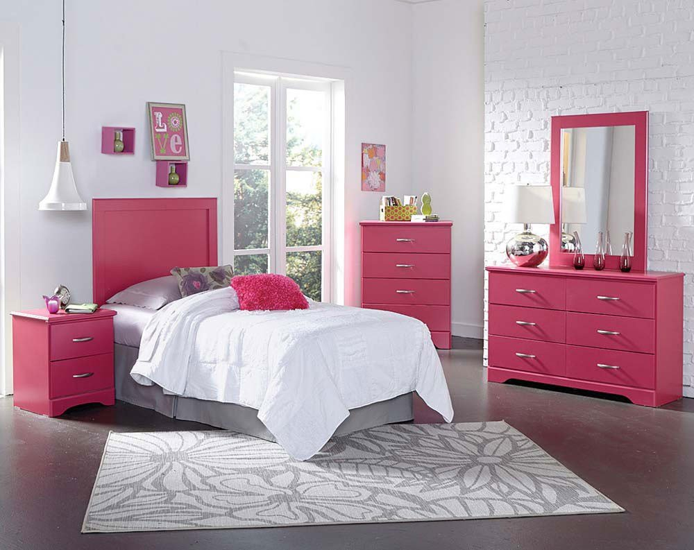 Best Kids Bed Room Set In White And Pink Urbanewood With Pictures
