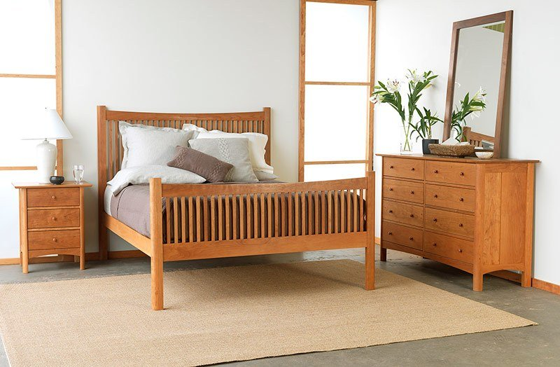 Best Modern Shaker Bedroom Set American Made Solid Wood Furniture With Pictures