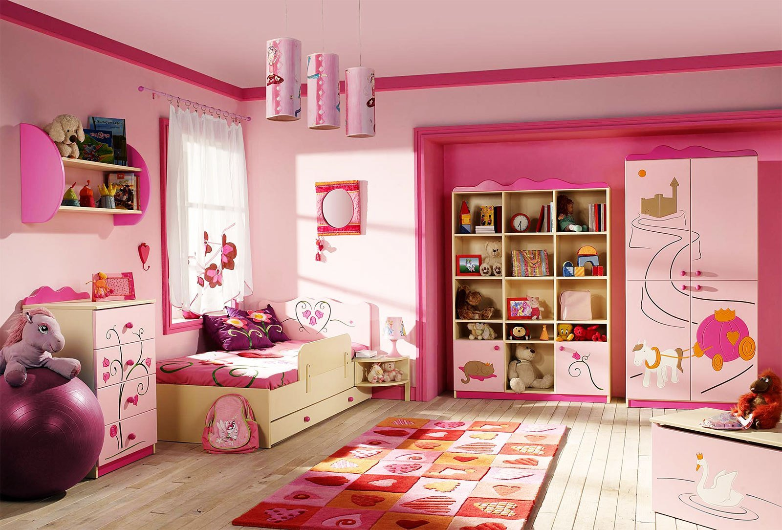 Best Pink Girls Kids Bedroom Furniture Furniture Ideas With Pictures