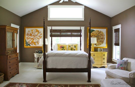 Best Country House Brown And Yellow Master Bedroom House Mix With Pictures