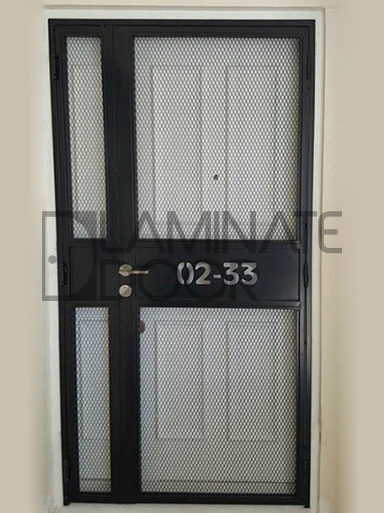 Best Ld 524 Mild Steel Gate Mesh Gate With Laser Cut Unit Number Hdb Fire Rated Door Metal Gate With Pictures