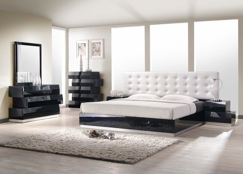 Best Exquisite Leather Modern Master Beds With Storage Cases Buffalo New York J M Furniture Milan With Pictures