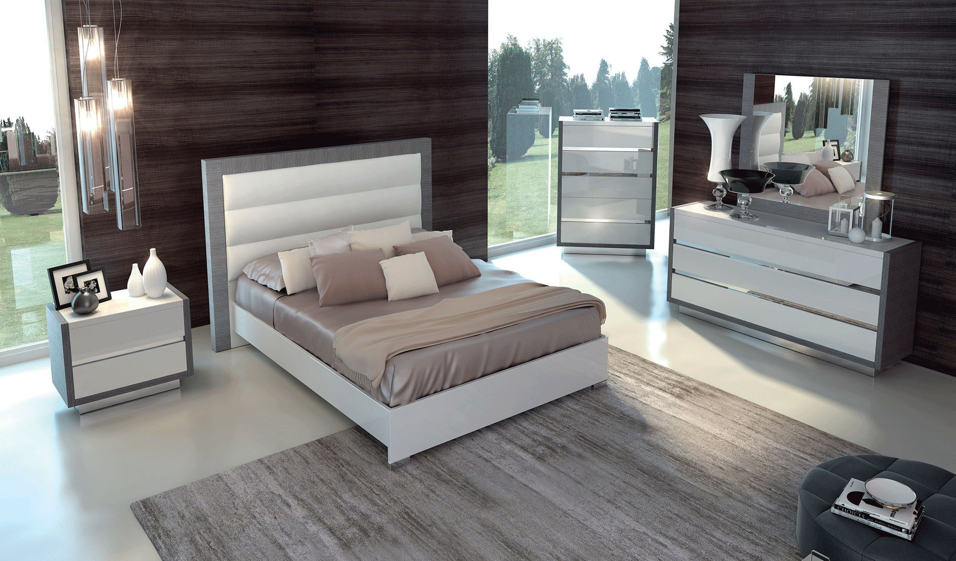 Best Made In Italy Quality Luxury Bedroom Sets Jacksonville Florida Esf Mangano With Pictures