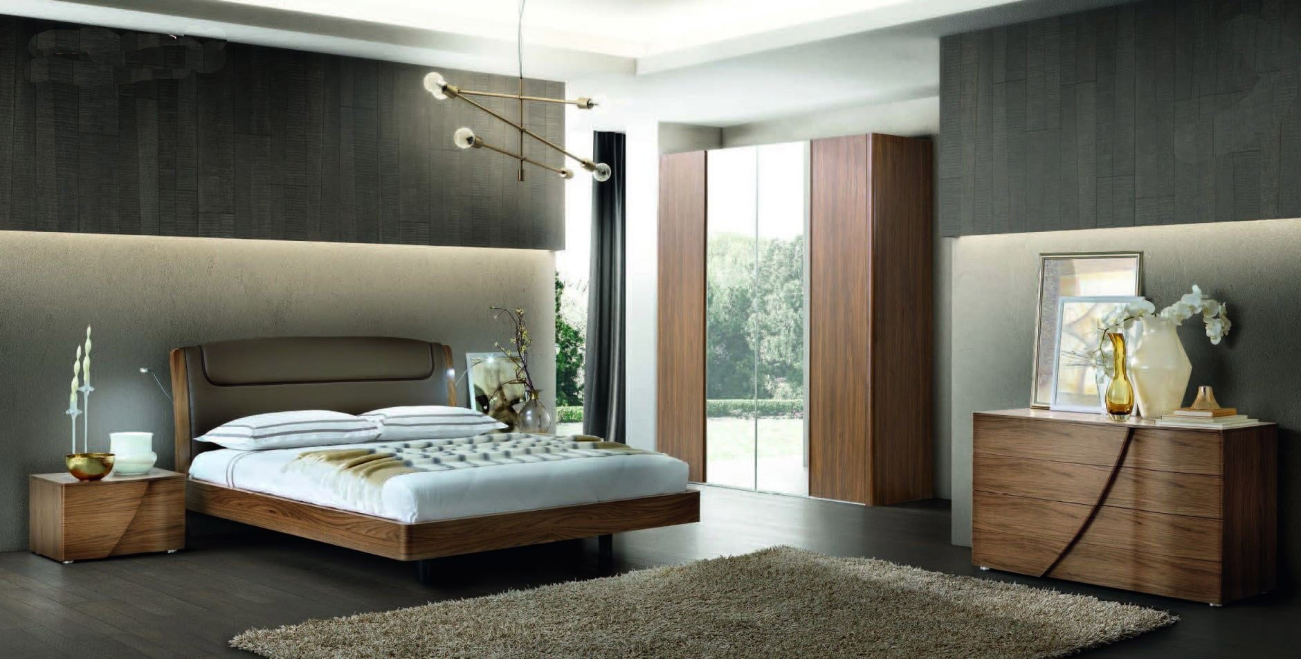 Best Made In Italy Leather Luxury Bedroom Furniture Sets With Pictures
