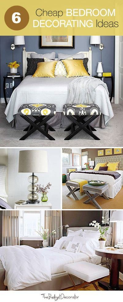 Best 6 Cheap Bedroom Decorating Ideas • The Budget Decorator With Pictures