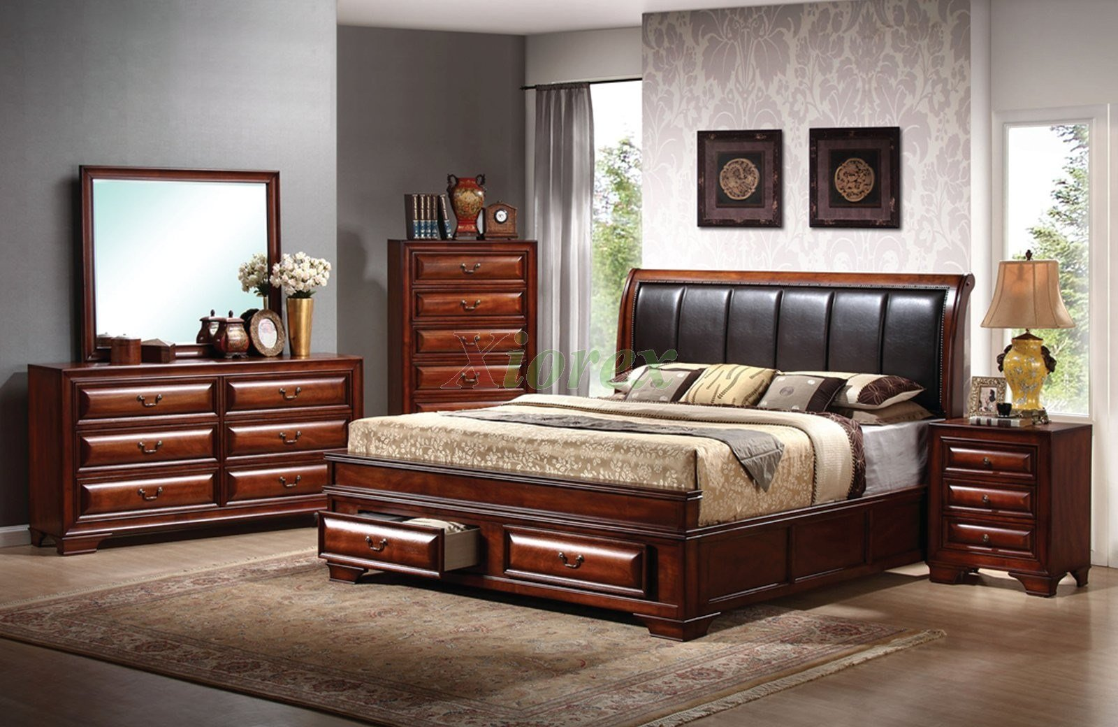 Best Platform Bedroom Furniture Set With Leather Headboard Beds With Pictures