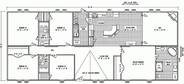 Best 4 Bedroom Double Wide Mobile Home Floor Plans New Home Plans Design With Pictures