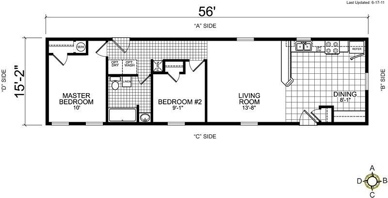 Best Single Wide Mobile Home Floor Plans 2 Bedroom Unique With Pictures