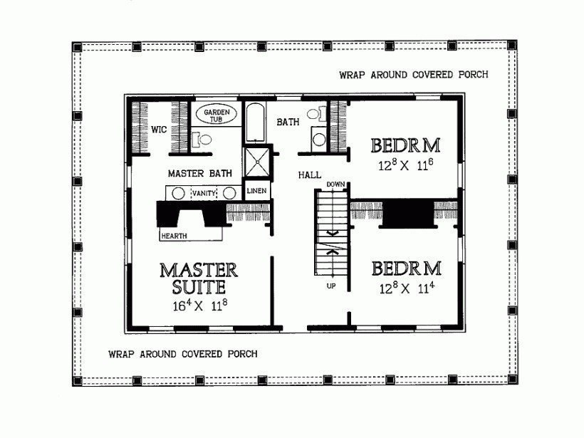 Best Unique 2 Bedroom House Plans Wrap Around Porch New Home With Pictures