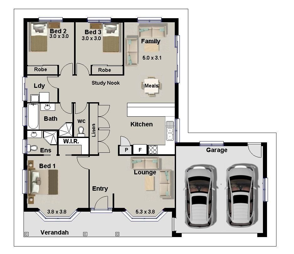 Best 3 Bedrooms House Plans Designs Luxury Awesome 3 Bedroom Home Plans Designs Decorating Design With Pictures