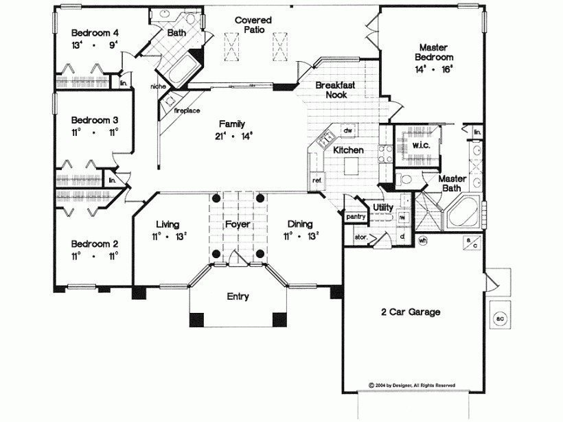 Best Unique 4 Bedroom House Plans Single Story New Home Plans With Pictures