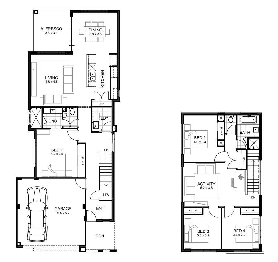 Best Luxury 4 Bedroom Two Storey House Plans New Home Plans With Pictures