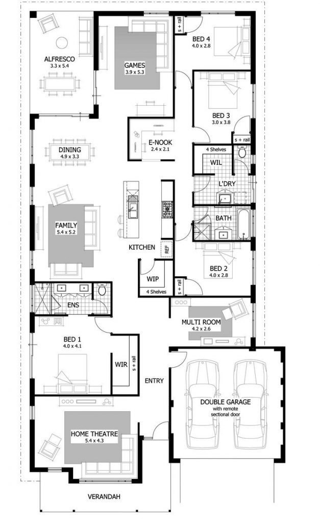 Best 5 Bedroom House Plans Narrow Lot Inspirational 847 Best With Pictures