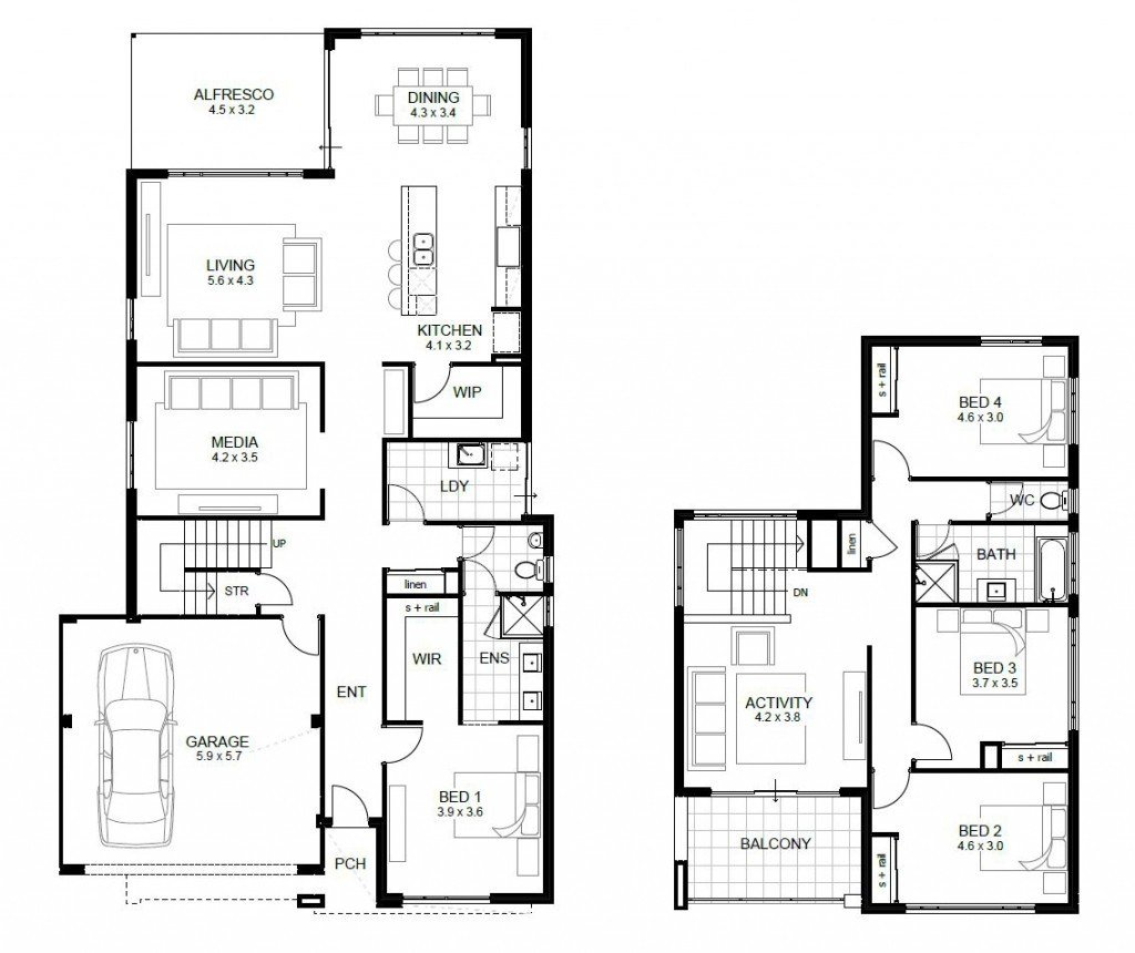 Best Awesome Free 4 Bedroom House Plans And Designs New Home With Pictures