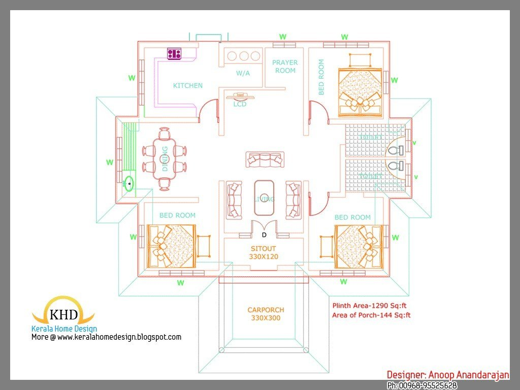 Best Of Kerala Style 3 Bedroom Single Floor House Plans With Pictures