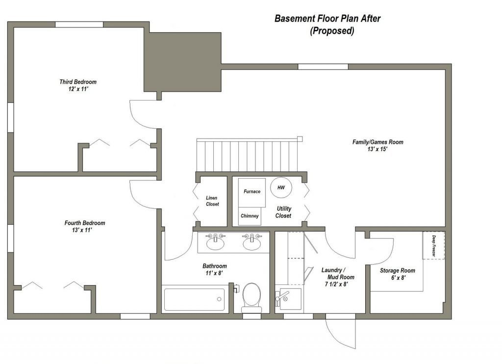 Best Two Bedroom House Plans With Basement Unique Finished With Pictures