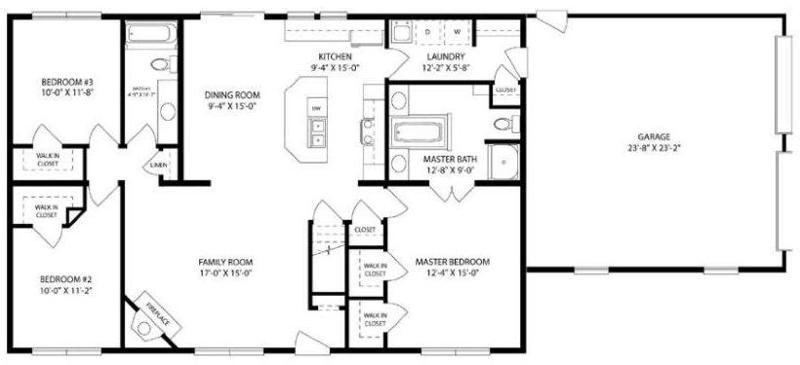 Best Awesome 3 Bedroom 2 Bath House Plans With Basement New Home Plans Design With Pictures